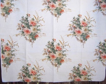 Designer Fabric, Silk-Screened, Textile, Wild Rose, Quilter, Pillows, Sewing, Roses