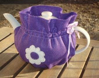 Purple Felt Tea Cozy