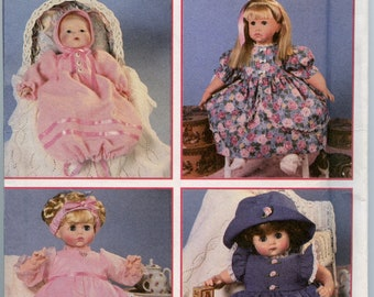 Simplicity 9286 Design Your Own Doll Clothes Pattern Short or Long Dress Panties, Headband, Bonnet, Hat Size 12 Inch - 22 Inch UNCUT