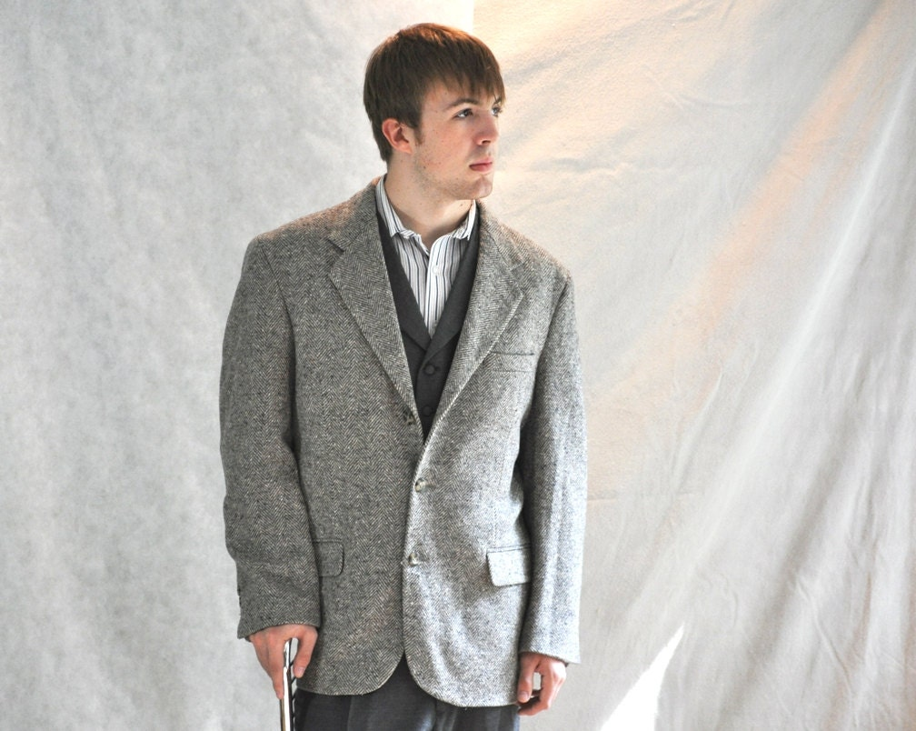 Grey Tweed Sport Coat - JacketIn