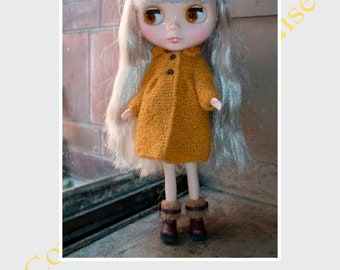 ENGLISH PDF Pattern for Blythe knitted coat
