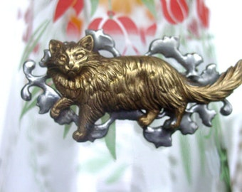 Kitty Cute French Cat Brooch