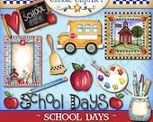 School Days Digital Art Collection