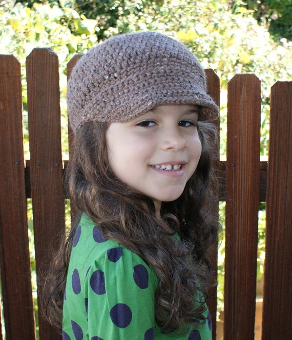 Crochet Pattern-- Newsboy Cap --Crochet Pattern - Includes sizes from Baby to Adult Male