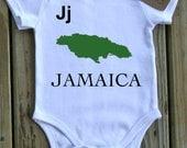 J is for Jamaica Organic Onesie or Tee