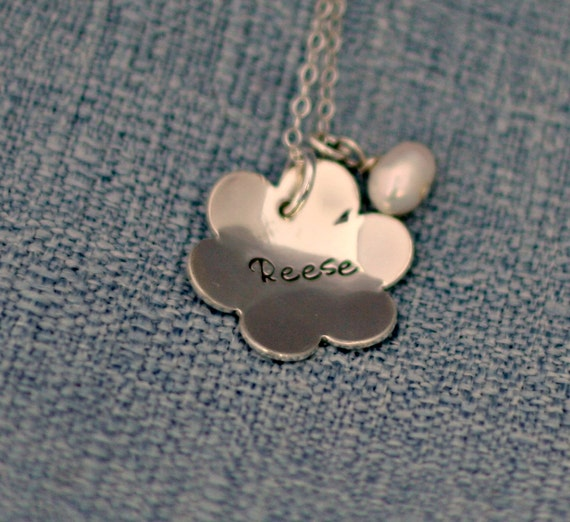 Personalized Necklace - Mommy Necklace - Sterling Silver Flower Necklace - Blossom Necklace - Name Necklace