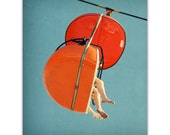 mid century art, mid century artwork, orange art, mad men era art, mid century wall art, print - SkyGlider I, large print