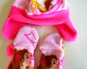 Beauty and the Beast Winter Hat and Mittens Set