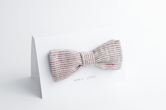 Wedding bow tie - double sided