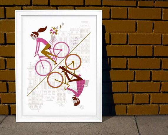 Uphill Downhill Artcrank Poster - 18 x 24 (2nd edition, purple)