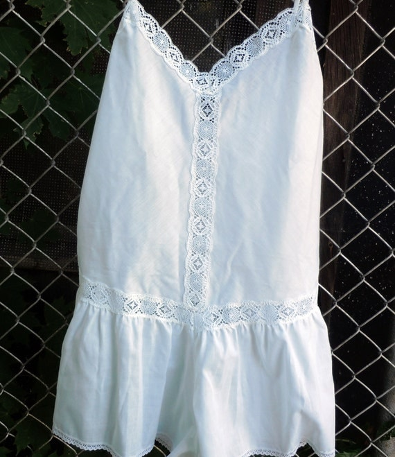 Vintage Country Cotton Shorts Nightgown - Vintage Summer Pajama