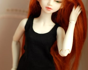 Minifee Black Singlet For BJD Slim MSD