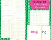 Blogging Planner Set - EDITABLE / FILLABLE PDF - 27 pages