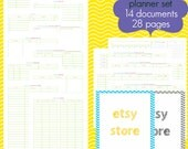 Etsy Seller Planner Set - EDITABLE / FILLABLE PDF - 30 pages