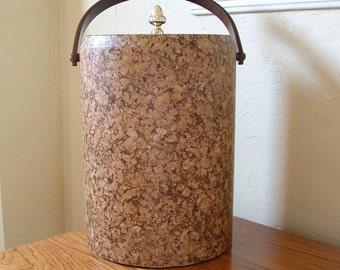 Vintage Morgan Ice Bucket Morgan Bucket Brigade Barware Mad Men Cork