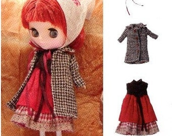 PDF Pattern Petite Blythe Coat Dress and Babushka English templates names and sewing key included