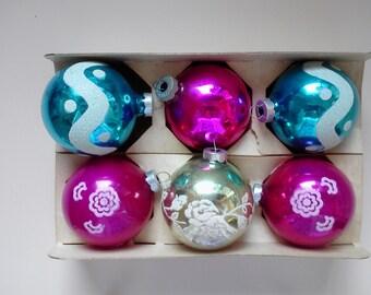 Vintage Mid Century Christmas Ornaments Atomic Retro Mod FREE SHIPPIING - order 3 or more Christmas  listings