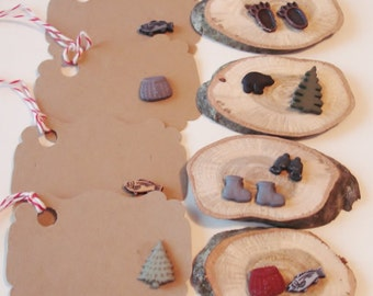 Paper Goods - Tags -Wood Place Card -  Woodland- Party Time- Forest - Outdoors - Favors - Seating -  Gift - Party Ba gs - Label -Tags