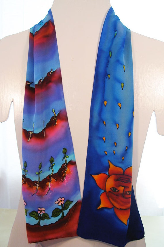 painted silk scarves handmade silk scarf by sirensilks