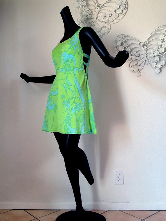 RESERVED for PAMELA MOD Twiggy Vintage 1960s 60s Swimsuit Dress Swim Dress Cole of California Bra Dress Cutout cut out sides peek-a-boo sexy