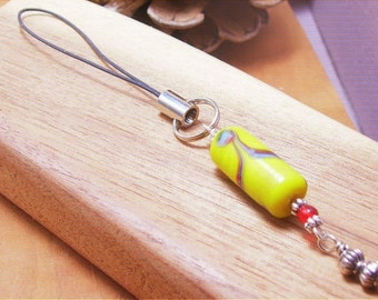 60's Vintage Lampwork Beaded Cell Phone Charm