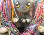 Bubblegum Junkie Fluffy Rainbow Yarn Falls