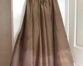 Ombre Silk Flowing skirt - Olive