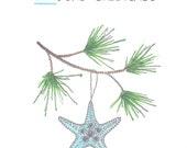 SEAson's Greetings Starfish Christmas Holiday Cards