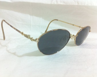 Oleg Cassini Sunglasses - Vintage Women Designer Eyeglasses Shades in Taupe Brown 182 - Gift for Her