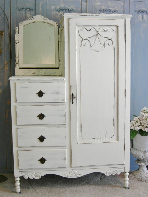 Items Similar To White Painted Chest The Shabby Chic