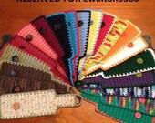 RESERVED - Set of 20 Crocheted Coffee Mug Cozies
