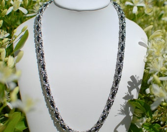 Delicate Byzantine Necklace with Black - Ready To Ship