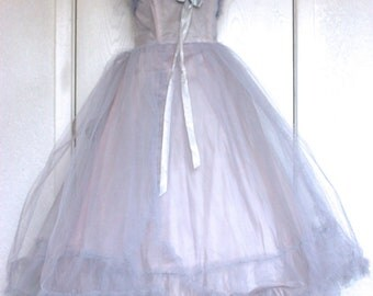 Fabulous 1950's Tulle Prom Dress