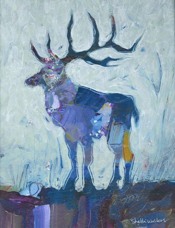 Reindeer Original Painting