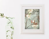 Titanium grey Blossom Photo Nursery Decor Baby shower Gift Wall Art 8x10 romantic Wall Decor pale gray creamy white neutrals bloom - DUEALBERI