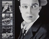 Buster Keaton collage painting print