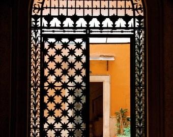 Roman Gates, Photo of Roman Palazzo, Orange Photo, Travel Photography, Glamorous Decor, Iron Gates, Picture of Rome, Rome Italy Photography