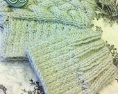 PATTERN: Ribbed & Cabled Boot Cuffs, PDF File