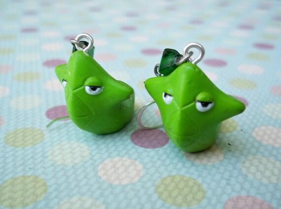 Cute Metapod Pokemon Earrings