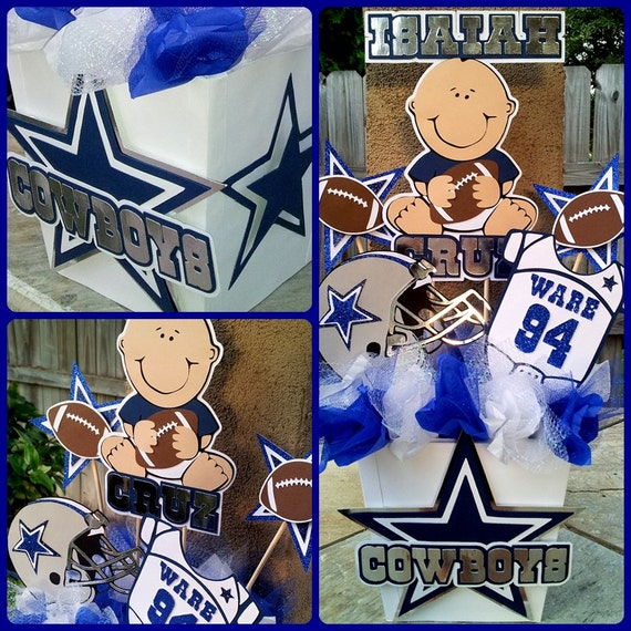 Items Similar To Dallas Cowboys Baby Shower Centerpiece On