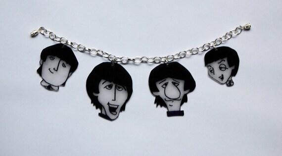 Cartoon Beatles Shrink Plastic Bracelet