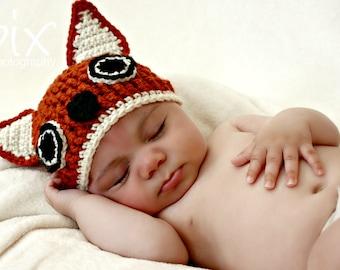Foxy Beanie CROCHET PATTERN instant download - Fox Hat