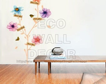 PEEL and STICK Removable Vinyl Wall Sticker Mural Decal Art - Romantic Greeting Flowers