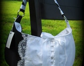 Black and White Formal Hand Bag  for Wedding, Formal, Prom