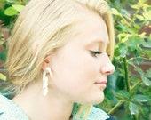 Fake Gauges Bone Earring Flower Spiral Tribal Earrings -FG005 B G1