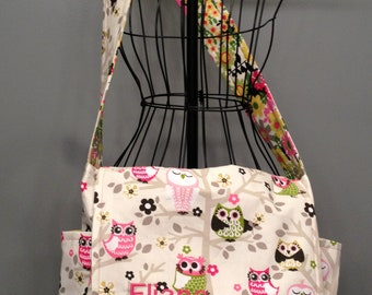 Messenger Style Diaper Bag - Owl Fabric