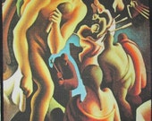 Printed Patch - Large Back AMERICAN DISCOVERY -  Thomas Hart Benton 1889-1975