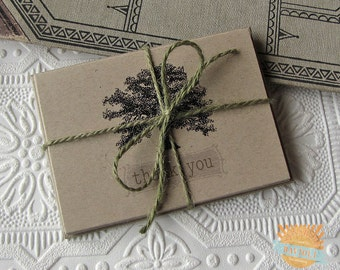 Thank You Notes set of five Vintage Oak Tree