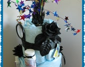 RESERVED FOR DAN Over the Hill - Gag Gift - Birthday - Diaper Cake for adult - 50th Birthday - 40th Birthday - 2 tier