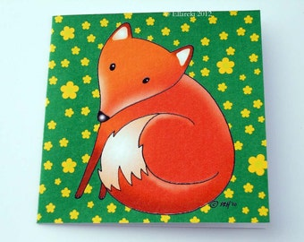 Fox Mini Card with matching swing tag